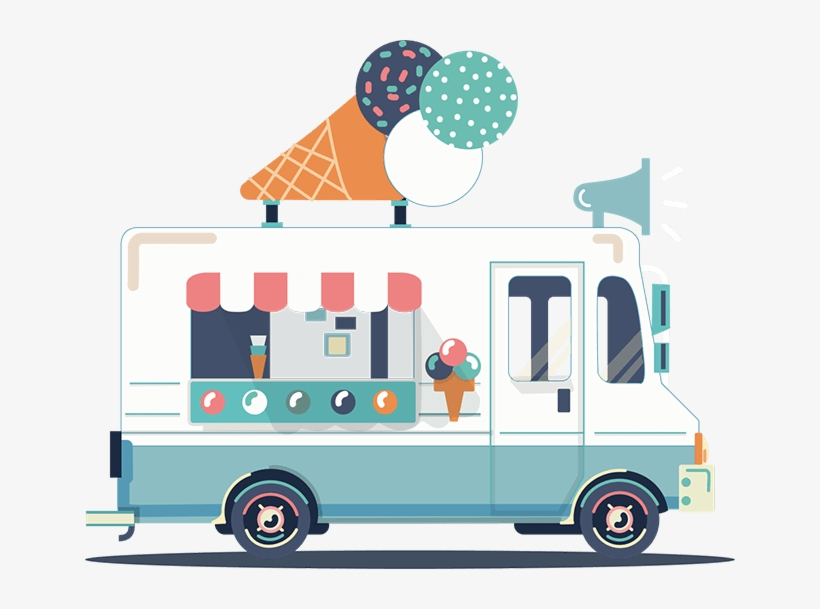 Ice Cream Truck Png Transparent PNG.