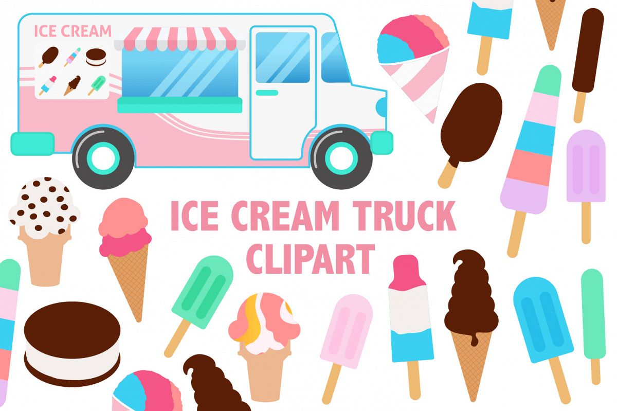 Ice Cream Truck Clipart.