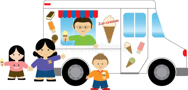 Ice Cream Truck Stock Illustrations.