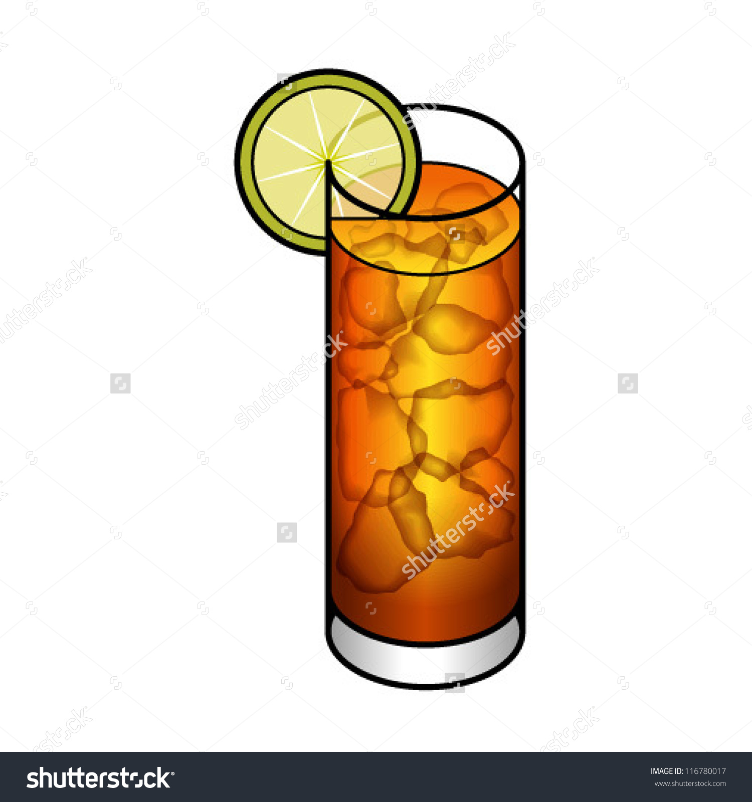 Long island iced tea clipart.