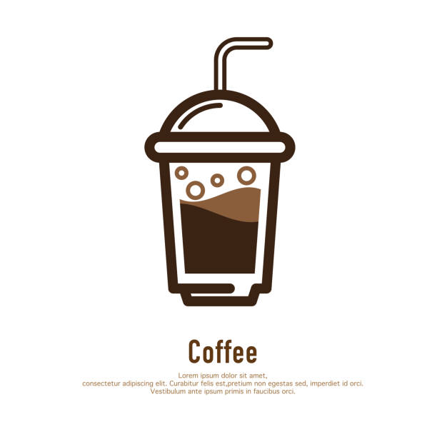 Best Iced Coffee Illustrations, Royalty.