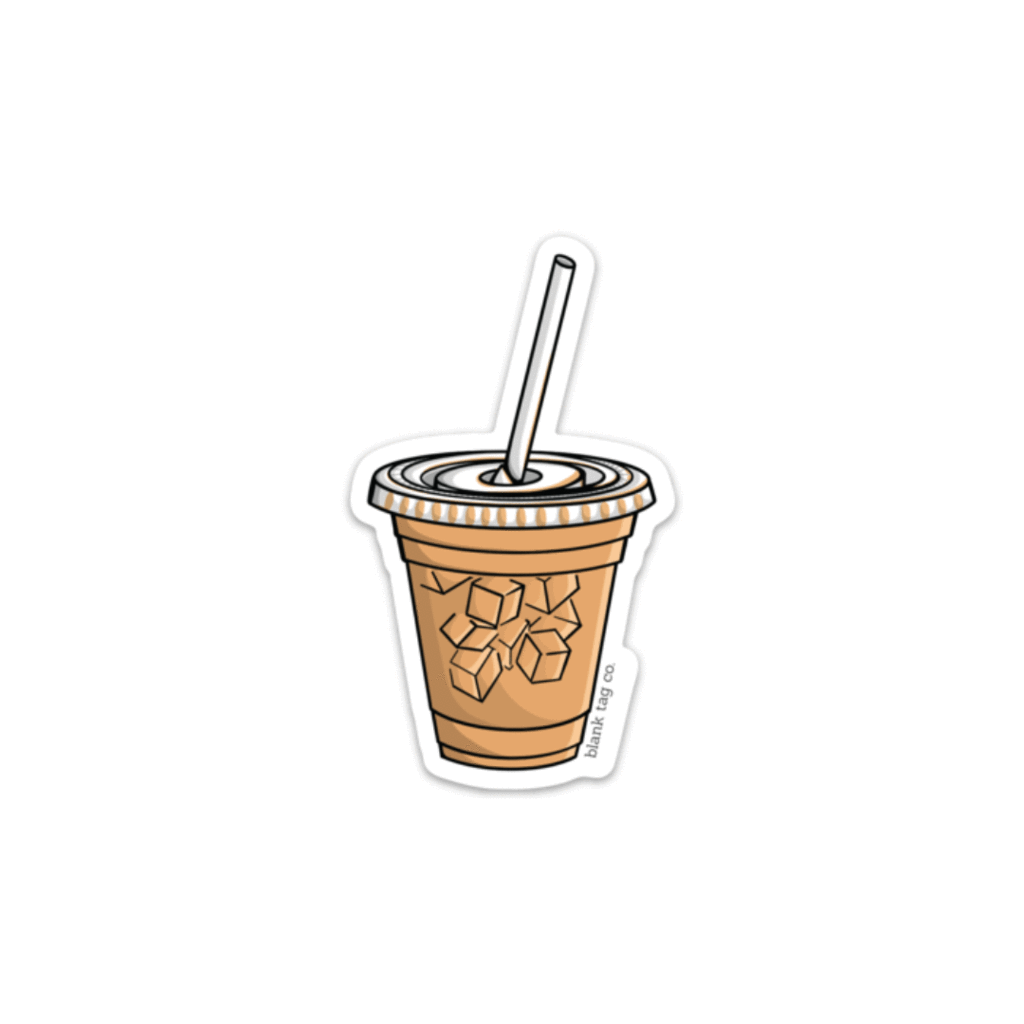 The Iced Coffee Sticker.