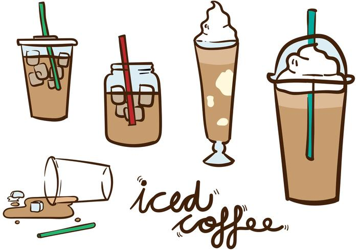 Iced Coffee Vector Pack.