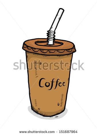 Iced coffee clipart #11