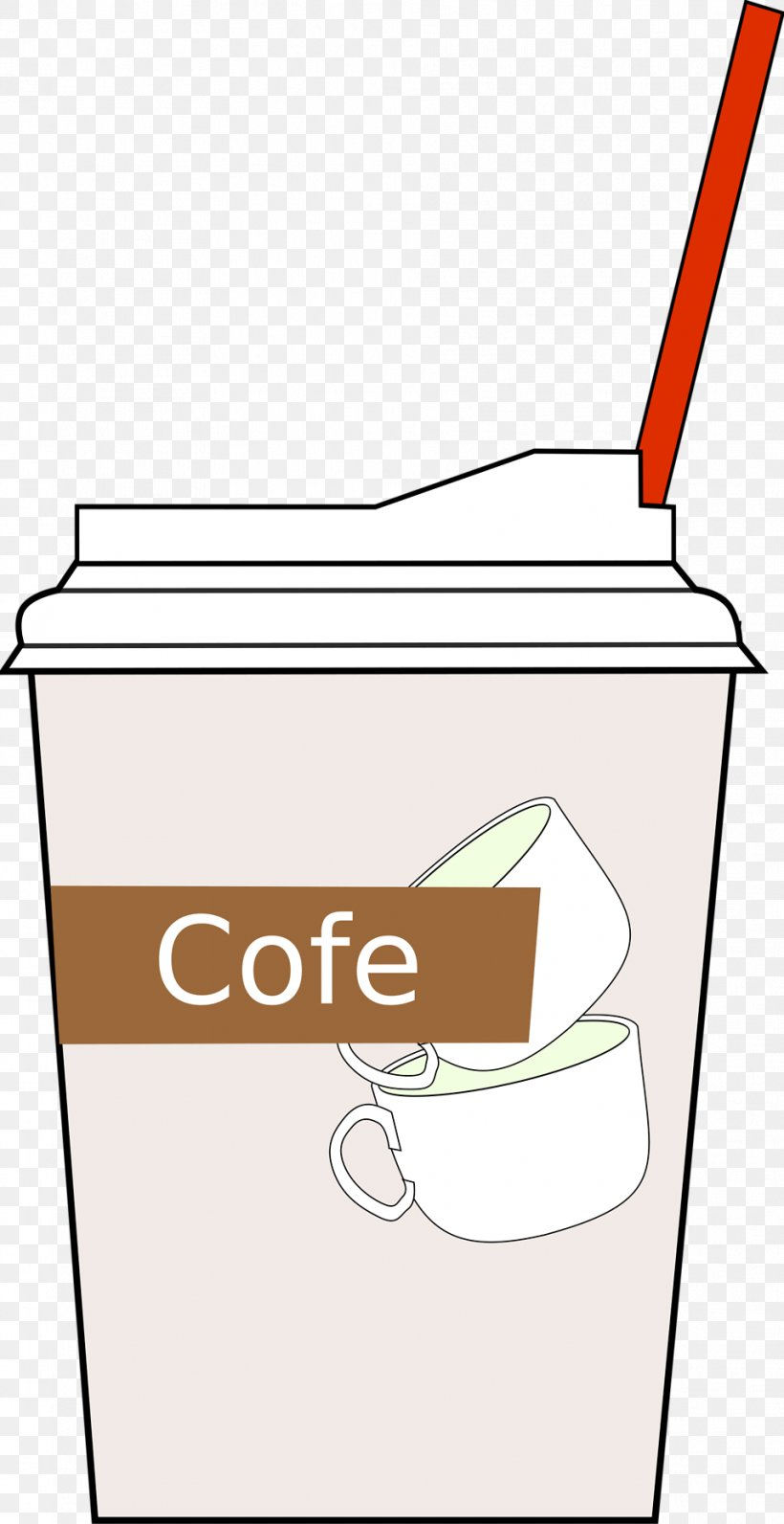 Cafe Iced Coffee Coffee Cup Clip Art, PNG, 958x1860px, Cafe.