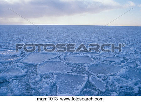 Stock Photo of Ice field. Agate Bay. Two Harbors, MN mgm1013.