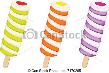 Clipart Vector of ice lolly.