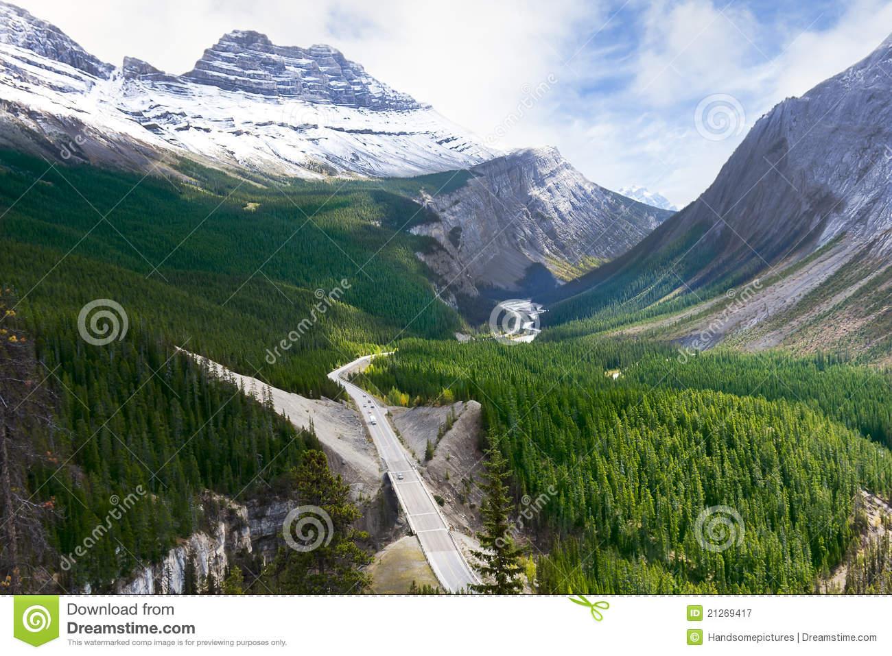 Road Through Canadian Rockies.