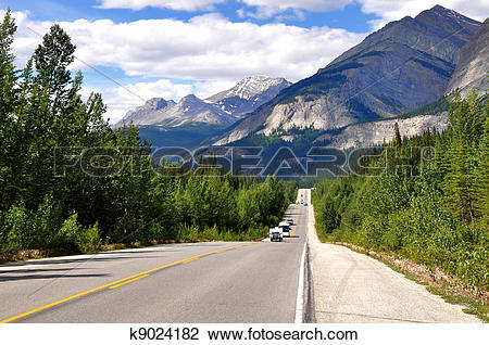 Stock Photo of Icefields Parkway in Canada k9024182.