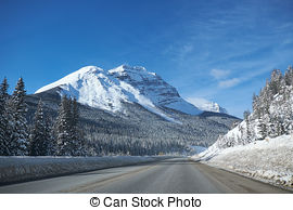 Stock Photography of Icefields Parkway in Canada.