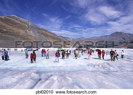 Stock Photography of Athabasca Glacier, Icefield Parkway, Jasper.
