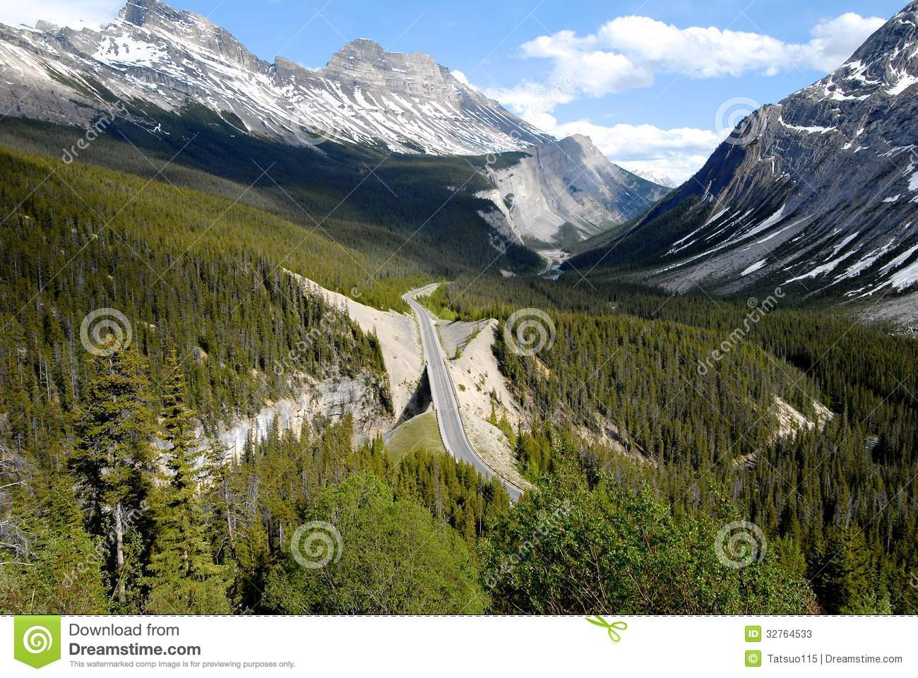 Big Bend On The Icefield Parkway,Canadian Rockies,Canada Stock.