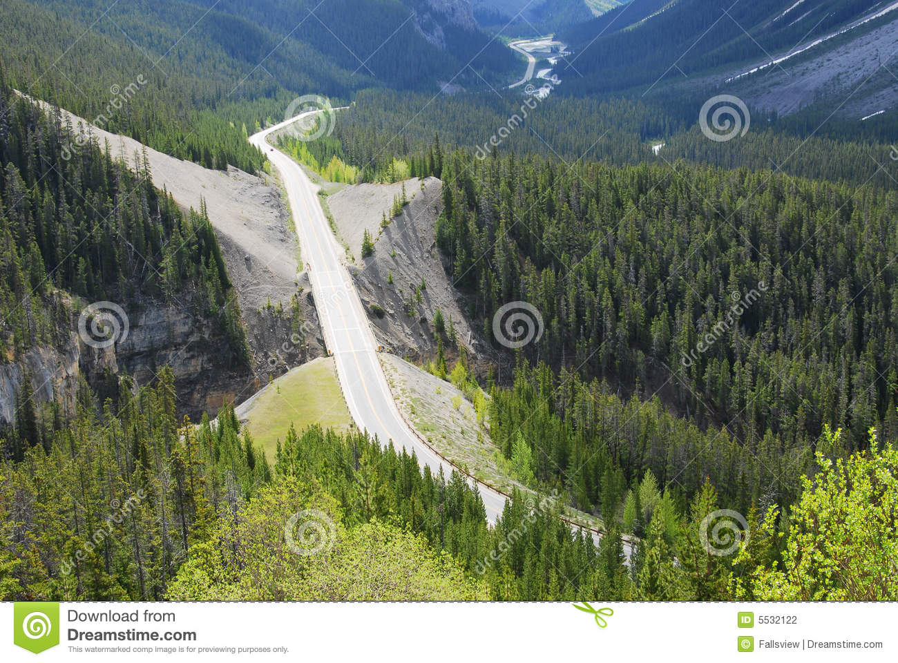 Icefield Parkway In Forests Stock Photography.