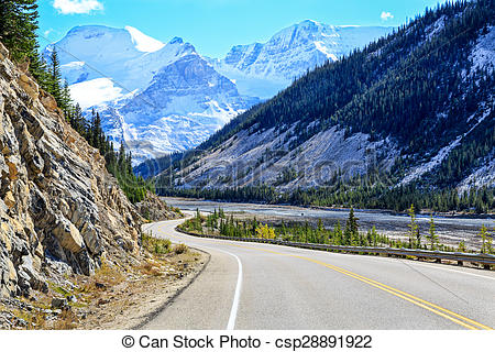 Stock Photo of Icefields parkway.