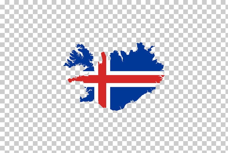 Flag of Iceland Map Icelandic, map PNG clipart.
