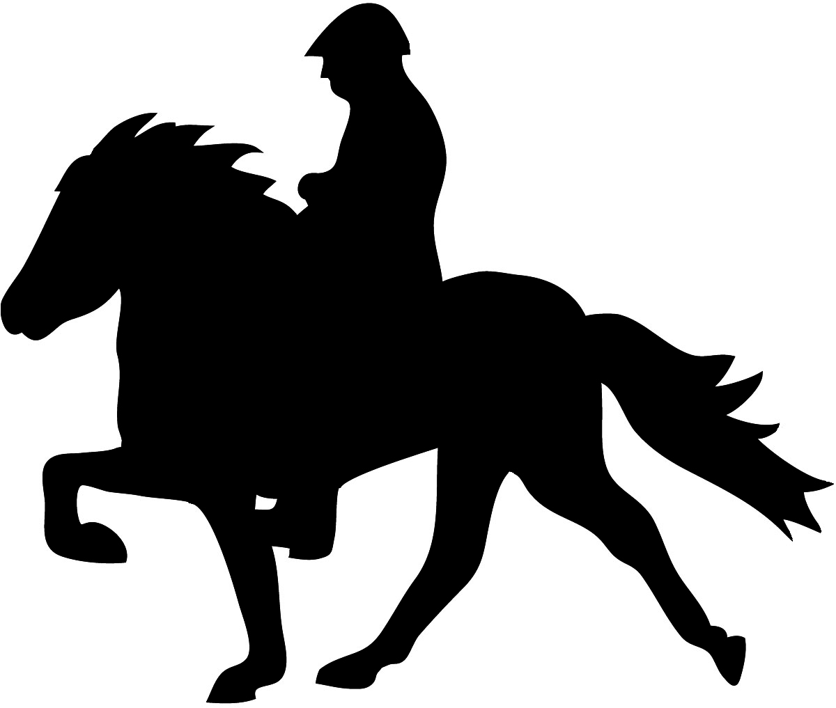 Icelandic horse clipart.