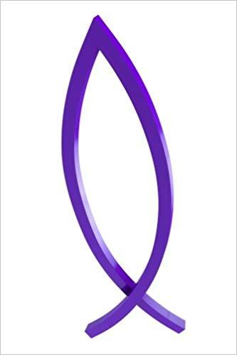 Purple Fish Symbol of Christianity Ichthys Ichthus Journal.