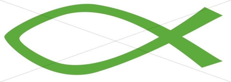 Forest Green Ichthys Symbol.