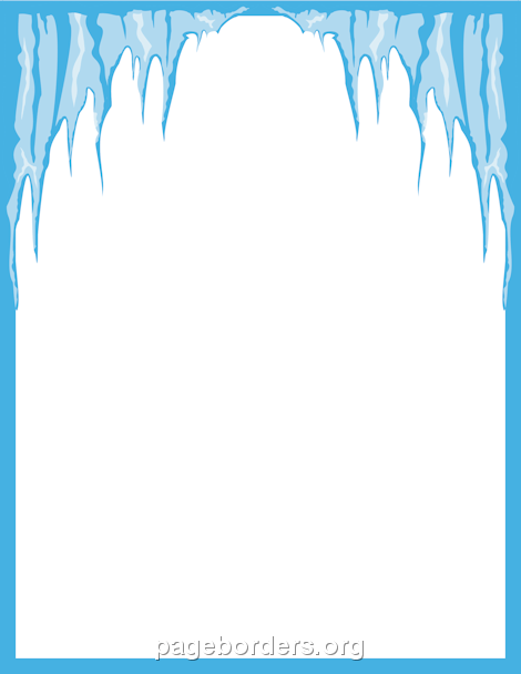 Icicle Border: Clip Art, Page Border, and Vector Graphics.