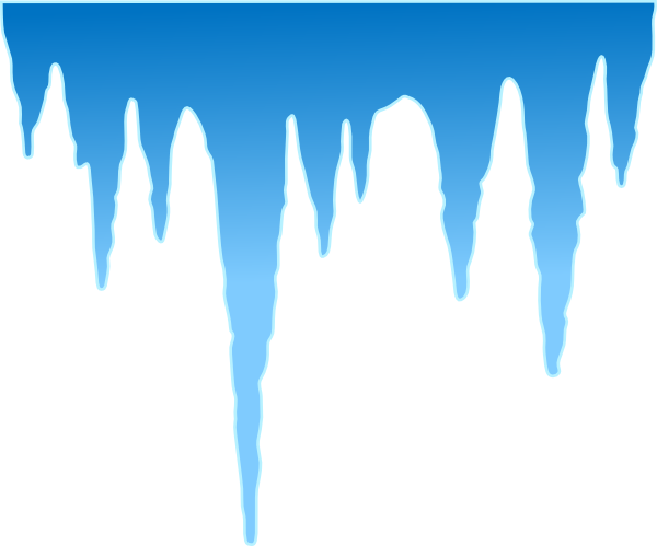 Icicle Border Clip Art N2 free image.