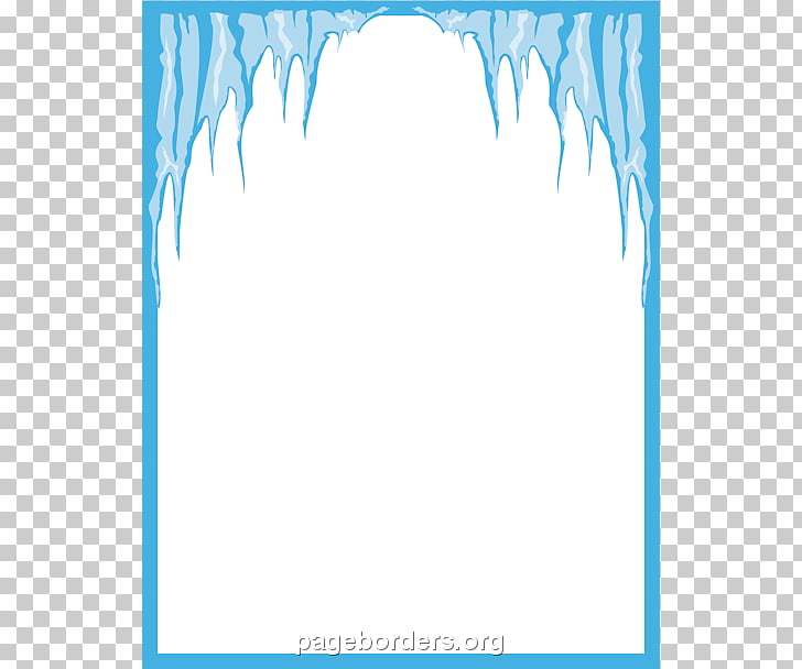 Icicle Winter , Icicles s Border PNG clipart.