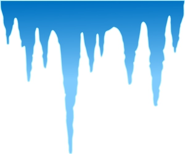 Icicles clip art Free vector in Open office drawing svg ( .svg.