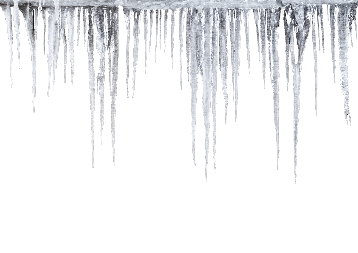 Icicle PNG Transparent Images.
