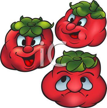 Cartoon of Healthy Food.