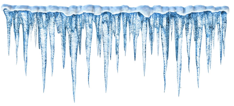 Icicle clipart border.