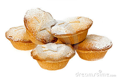 Mince Pies With Icing Sugar Dusting Stock Images.