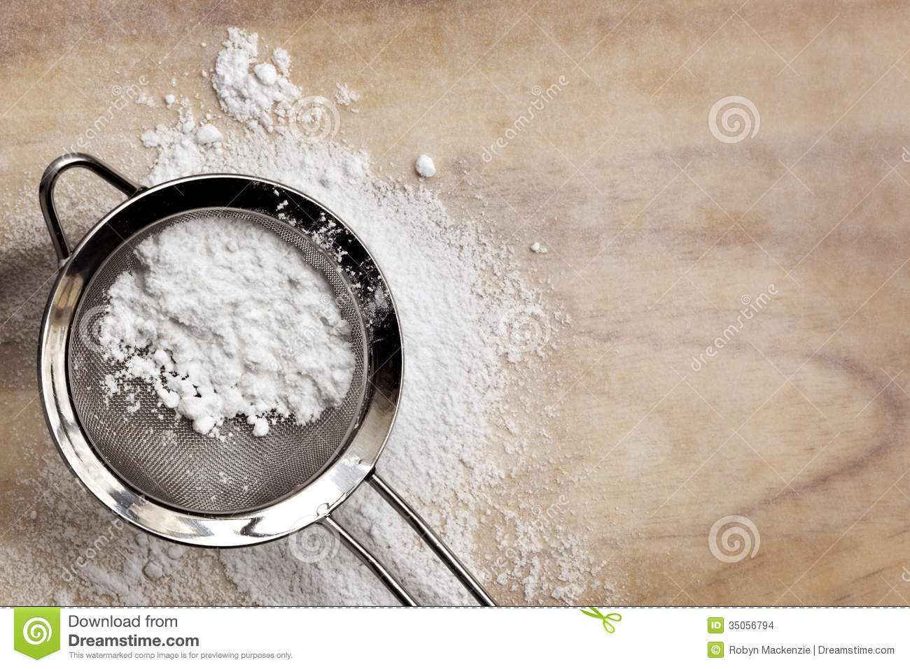 Icing Sugar Stock Images.