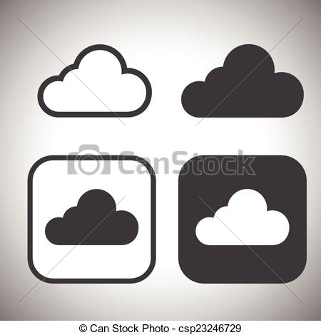 Vector Illustration of icloud icon vector csp23246729.