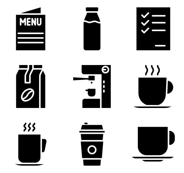 Coffee maker Icons.