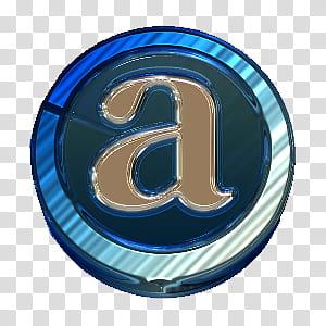 Iconos en e ico zip, blue letter a logo transparent.