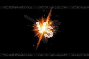 Vs versus battle sport background. Versus fight ico.