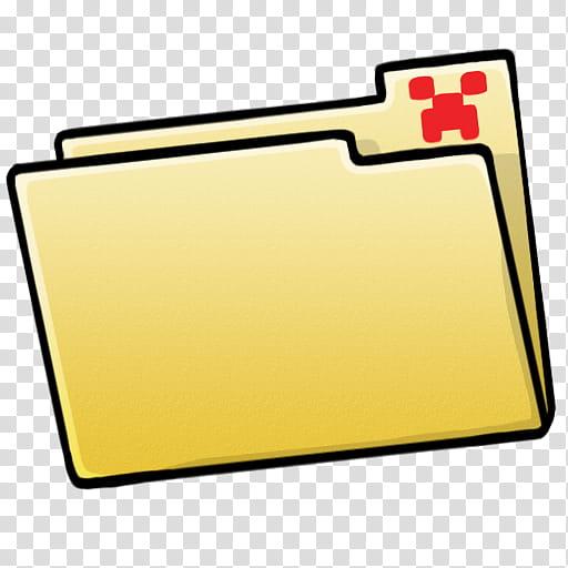 MineCraft Icon , folder blank, yellow folder transparent.
