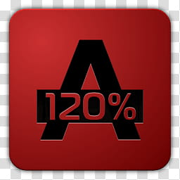Icon , Alcohol, A with percent icon transparent background.