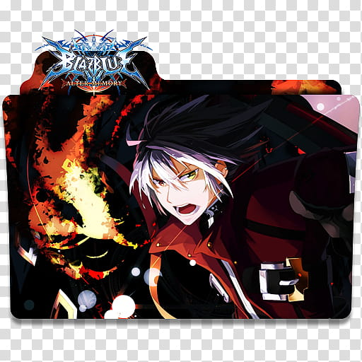 Anime Icon , BlazBlue anime folder illustration transparent.