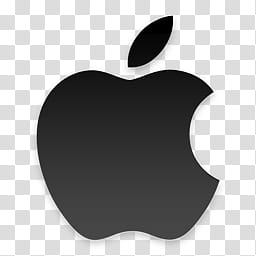 Black Apple Logo, gray Apple icon transparent background PNG.