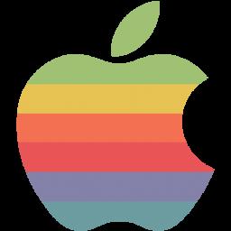 Rainbow apple logo Icon.