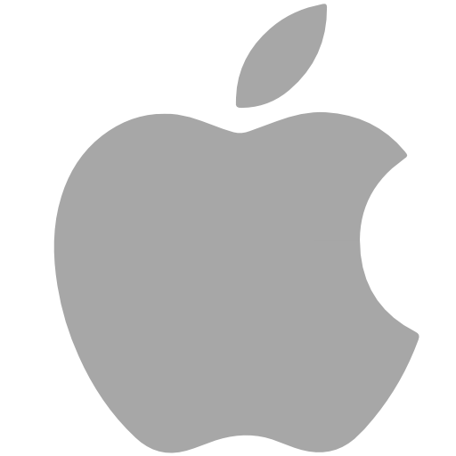 Apple, social network Icon Free of Social Grey Icons.