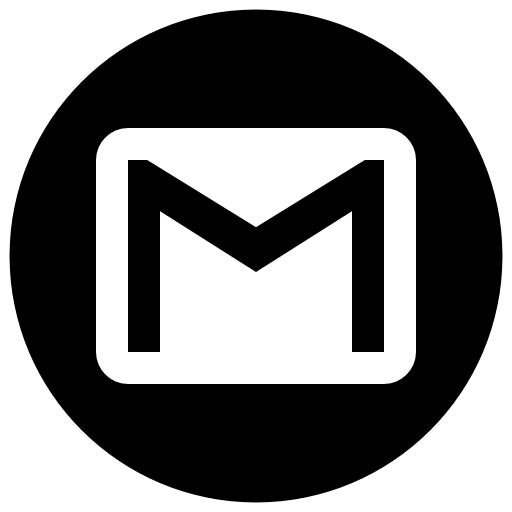 Gmail Icon Free of Address Book providers in Black & White Icons.
