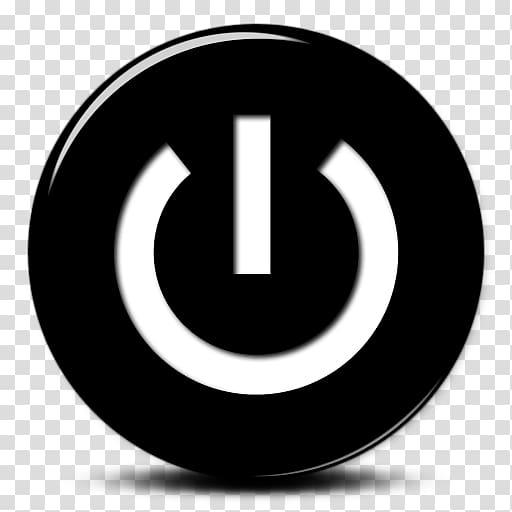 Computer Icons Button , Black White Power Button Icon.