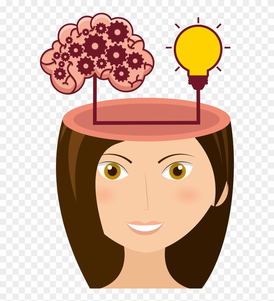 Cerebrum Icon Cartoon Beauty Thinking Image Transprent.