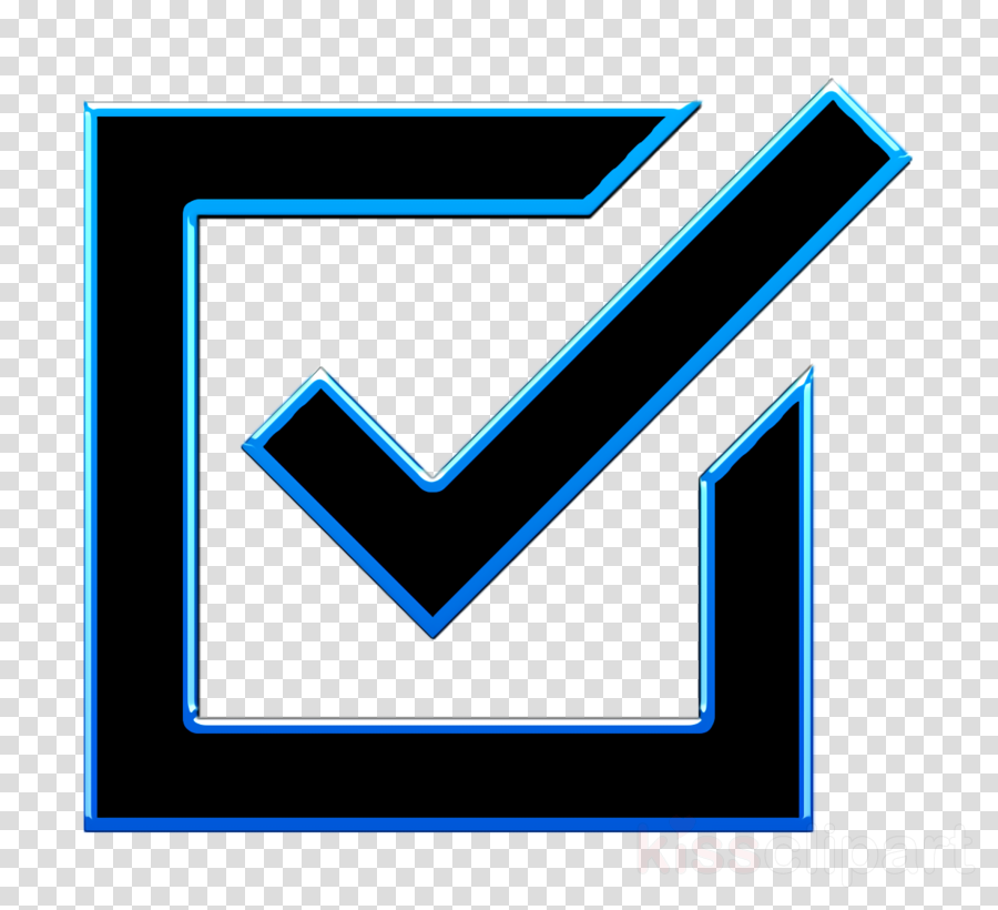 Check icon POI Signals icon Check box icon clipart.