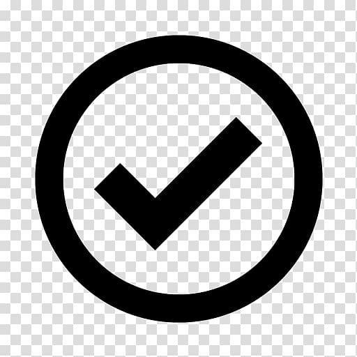 Check mark Icon design Icon, Black Checkmark transparent.