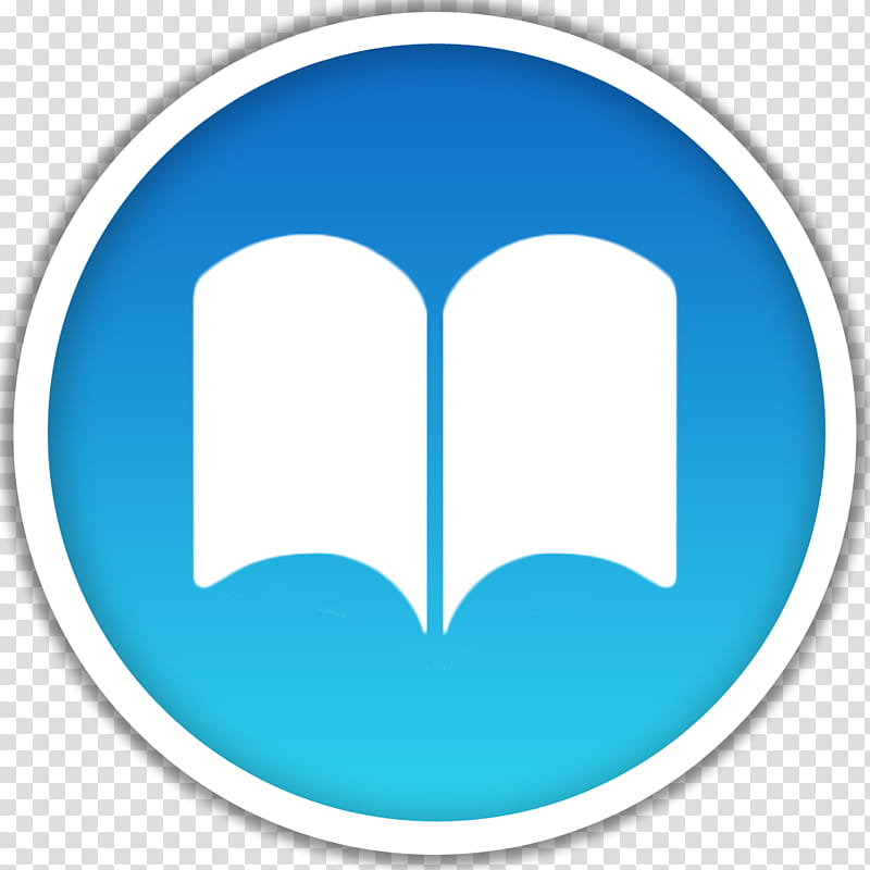 Dots, white and blue circle and book icon transparent.