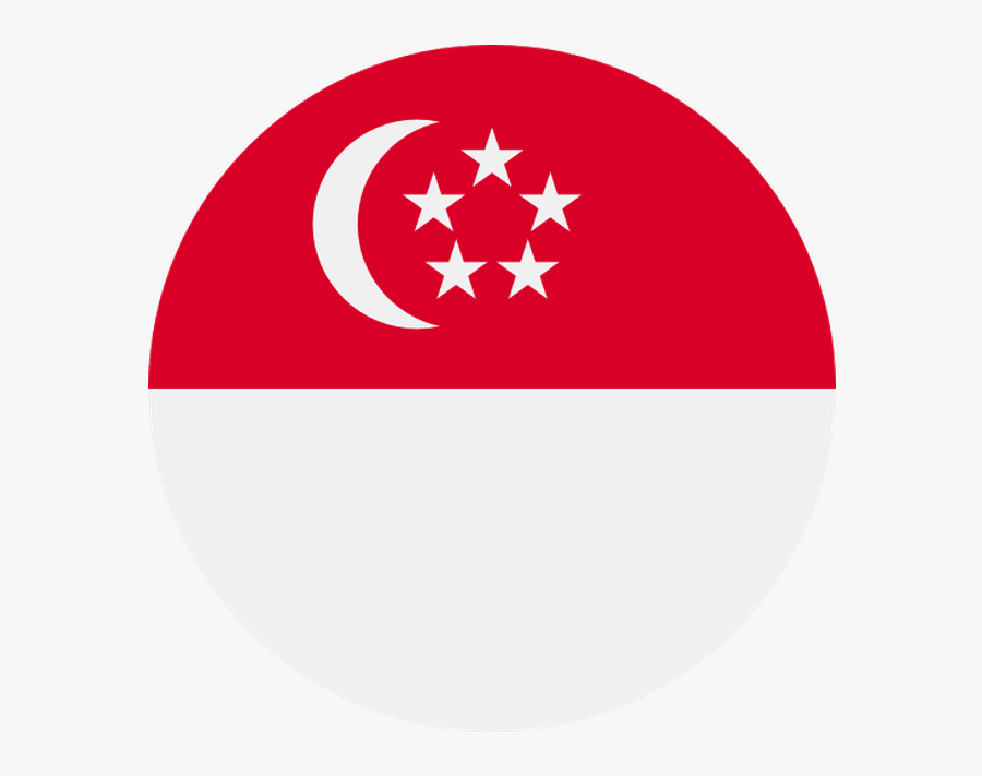Singapore Flag Icon Circle , Free Transparent Clipart.