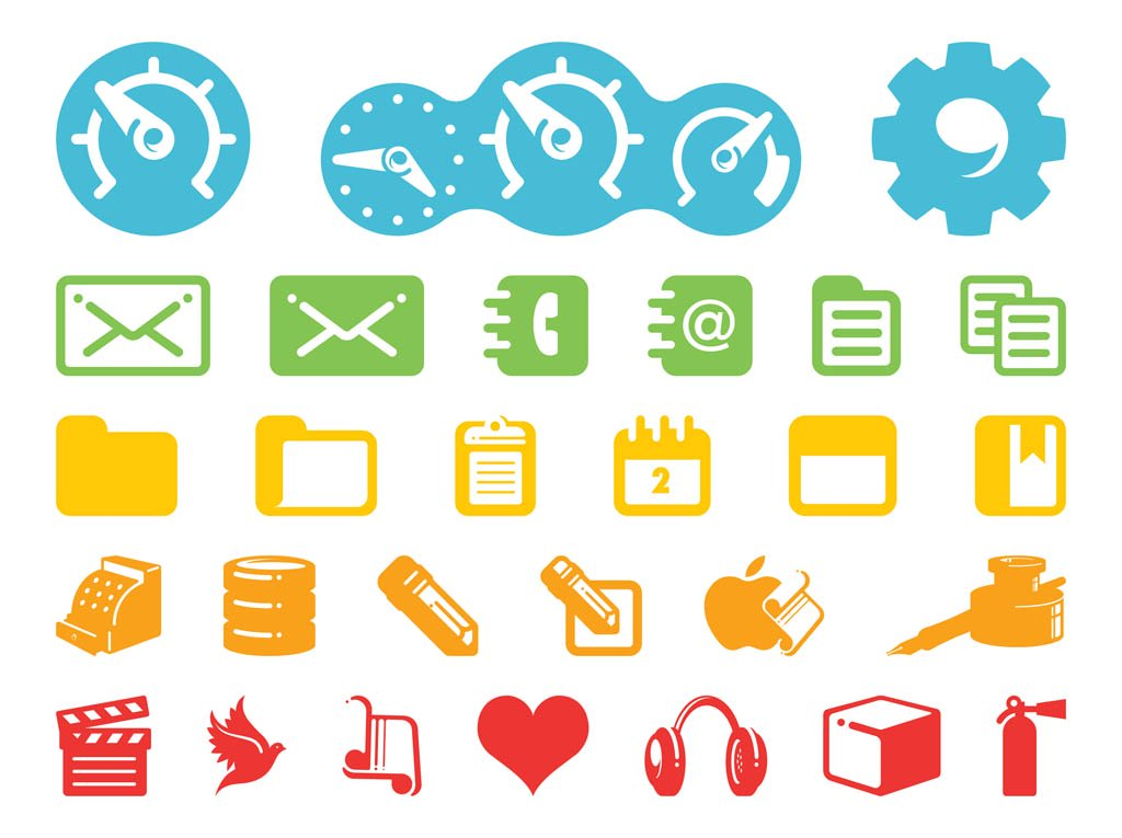 Technology Icons Pack Vector Art & Graphics.