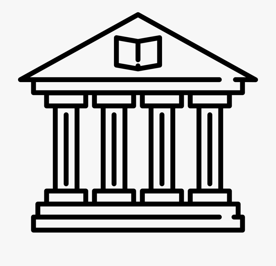 Old Library Building Svg Png Icon Free Download.
